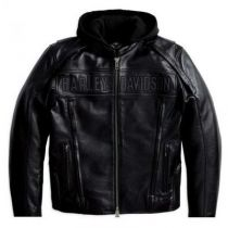 Men's Reflective Road Warrior 3-in-1 Leather Jacket