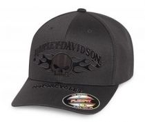 CAP SKULL FLAME,STRETCH GRAY