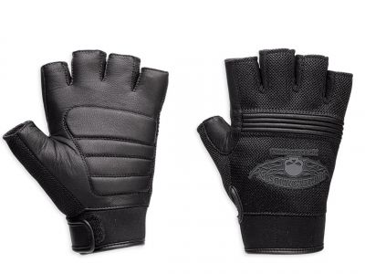 GLOVE F/L WINGEL SKULL,BLACK