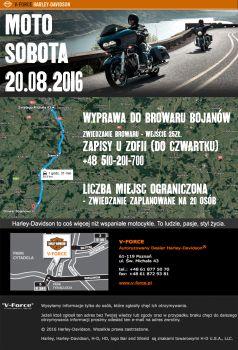 MOTO-SOBOTA 20.08.2016 WYPRAWA DO BROWARU W BOJANOWIE