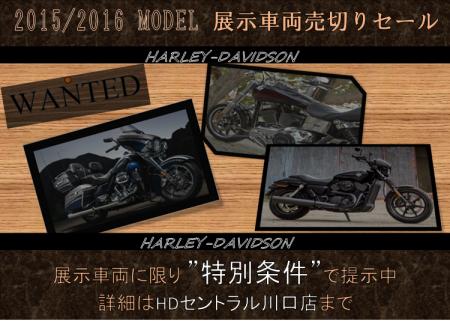 2016年モデル売切りセール