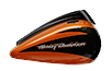 CVO™ Street Glide<sup>®</sup> - Sunburst Orange / Starfire Black with Contrast Chrome Aggressor Wheels