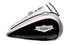 Road King<sup>®</sup> Classic - Two-Tone Billet Silver / Vivid Black