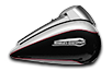 Tri Glide™ Ultra - Two-Tone Billet Silver / Vivid Black
