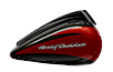 CVO™ Street Glide™ - Starfire Black / Atomic Red with Contrast Chrome Aggressor Wheels