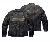 Leathers Mens  Astor Distressed Leather Jacket