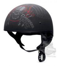 Reaper Skull Hybrid Ultra Light Matte Black Half Helmet