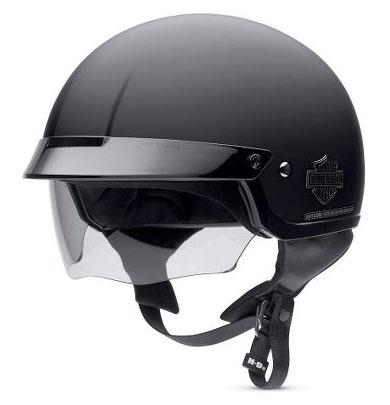 Retractable Sun Shield Flat Black Half Helmet