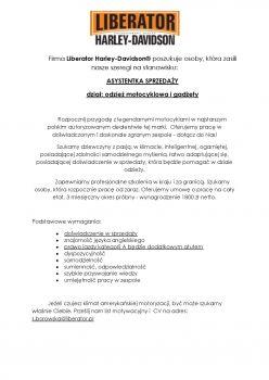 oferta pracy: ASYSTENTKA DZIAŁU ODZIEŻY POSZUKIWANA