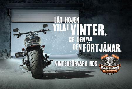 Vinterförvara din Harley hos oss!