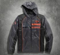 Harley-Davidson® Mens Cortex Waterproof Mid-Layer Trademark B&S Logo Grey Casual Jacket
