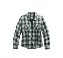 WINTER 2016 METALIC COATED PLAID SHIRT