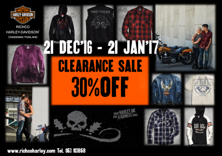 Clearance Sale 30% Off for Motorclothes