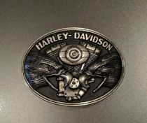 Harley-Davidson® Men's Belt Buckle, Screaming Eagle V-Twin, Silver