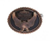 Harley-Davidson® Men's Vintage Glory Eagle Belt Buckle, Antique Copper