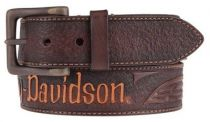 Harley-Davidson® Men's Vintage Ride Genuine Leather Belt, Brown