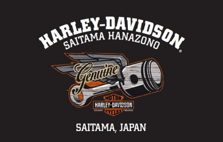 HARLEY-DAVIDSON 埼玉花園オープン記念Tシャツ★