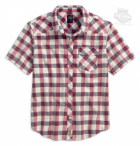 SHIRT-SHORT SLEEVE,PLD,B/L