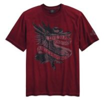 TEE-LIVE TO RIDE,AMERICANA,RED