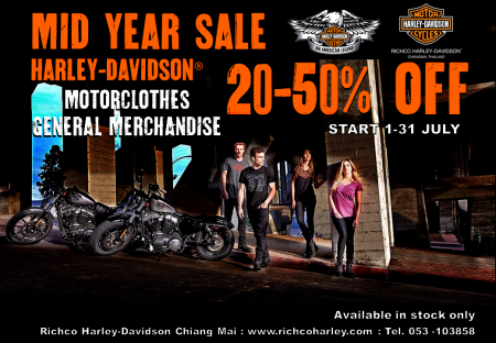 MID YEAR SALE 20-50%OFF FOR HARLEY-DAVIDSON® MOTORCLOTHES, GENERAL MERCHANDISE