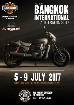 เตรียมพบกับบูธ AAS Harley-Davidson® of Bangkok ได้ในงาน Bangkok International Auto Salon 2017