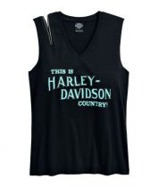 TEE-HARLEY COUNTRY,BLK,B/L