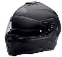 Harley-Davidson Mens Capstone Sun Shield Matte Black Modular Helmet
