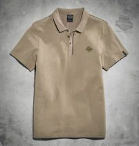 Harley-Davidson® Slim Fit Mens B&S Brown Short Sleeve Polo