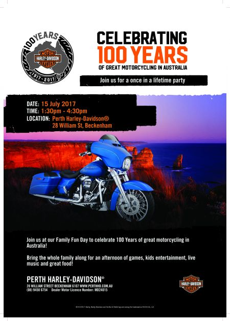 Perth Harley-Davidson 100 Year Family Fun Day