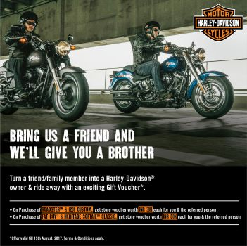 Harley-Davidson launches Referral program for Roadster, 1200 Custom, Fat Boy & Heritage Softail.