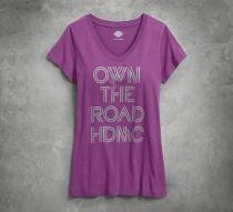 Women's Own the Road V-Neck Tee