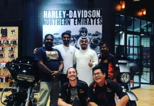 It's always pleasure to see old friends visiting us at the Harley-Davidson Northern Emirates ..