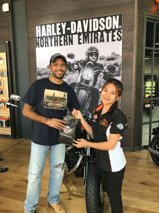 Winner of our first ever Facebook competition, Manjeet. Enjoy your new Harley-Davidson hoodie.