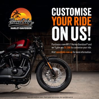 CUSTOMISE YOUR RIDE ON US!