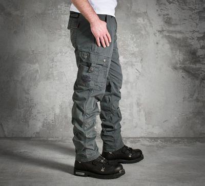 Mens B&S Logo Cargo Grey Pants