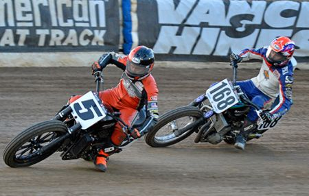 A double Top-10 finish for Harley Factory Flat Track team at Black Hills Speedway