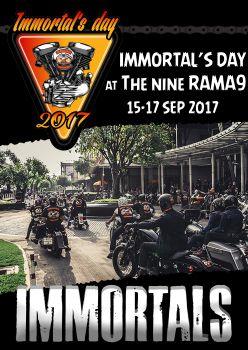 เจอกับเราได้ในงาน Immortal's Day 2017#15-17 ก.ย. 60