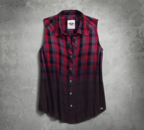 Dip-Dye Plaid Shirt