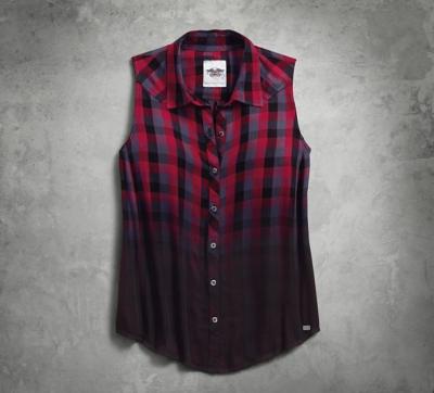 Dip-Dye Plaid Shirt