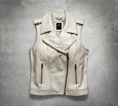 Distressed Leather Biker Vest