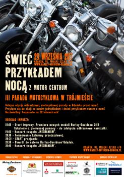 III edycja ŚWIEĆ PRZYKŁADEM NOCĄ Z MOTOR CENTRUM 29.09.2017