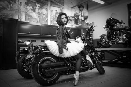 Мисс Harley-Davidson Новосибирск.