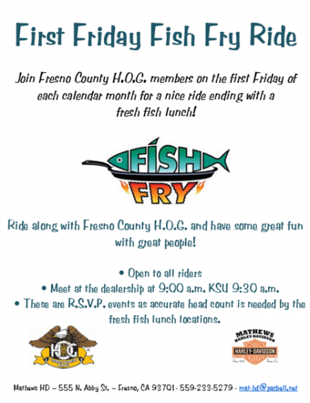 FIRST FRIDAY FISH FRY RIDE