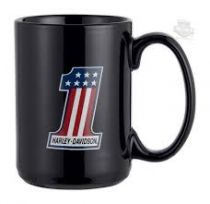 CERAMIC BLACK MUG #1 LOGO