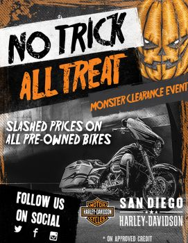 Slashed Prices on All Pre-Owned Bikes