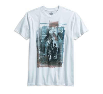 TEE-BL,S/S,HRTGE PHOTO