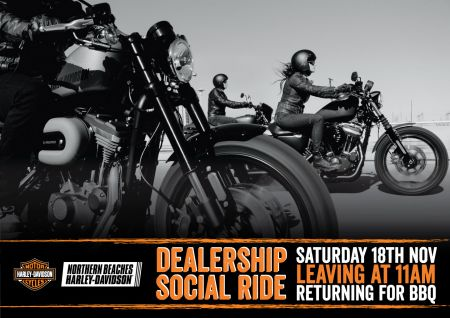 Dealership Social Ride - Post Poned to 25th November