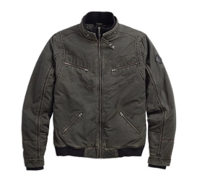 QUILTED LINING BOMBER JACKET