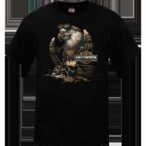 Mens Grease Eagle Black T-Shirt