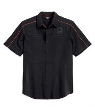Men's Black Vented Performance Skull Shirt